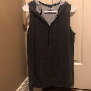 Nike sleeveless hooded sweatshirt